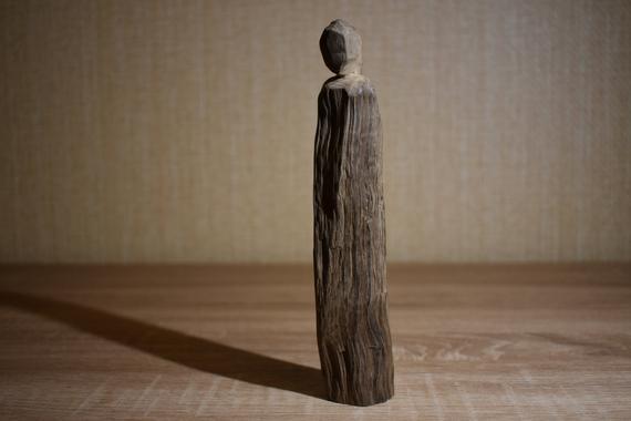 Hel wooden statue pagan statue 10cm