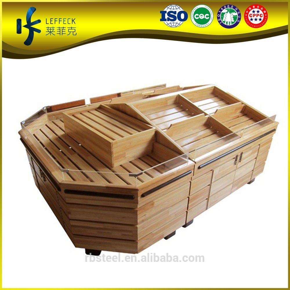 good price of liquor and grocery wooden fruit vegetable rack shelf ...