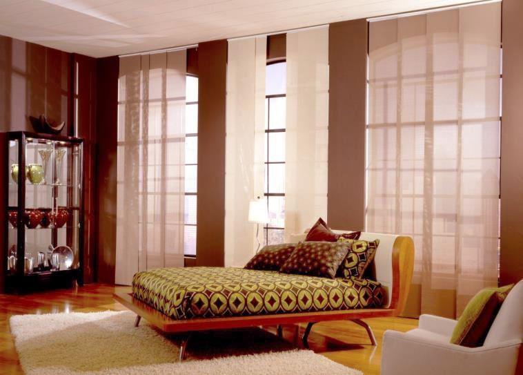 Panel Track Blinds for the Bedroom #BudgetBlinds #homedecor - rattan schlafzimmer komplett