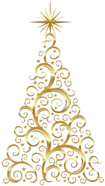 Christmas Clipart Transparent.Transparent Gold Deco Christmas Tree Clipart I Could Draw