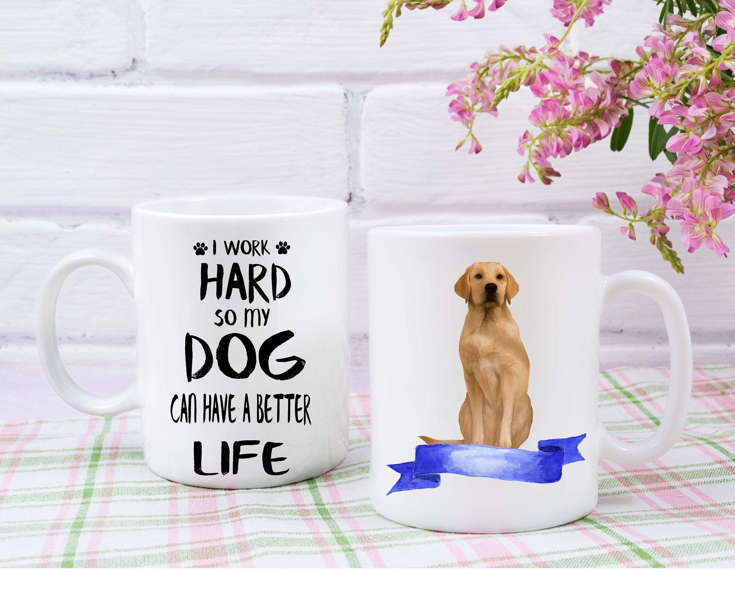 Labrador Retriever custom mug dogs lovers custom gifts dogs breeder custom dog name mugs Mug