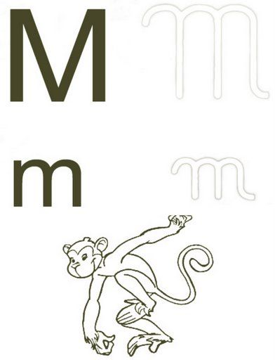 Alfabeto 4 Tipos De Letras Para Colorir Letras Para Colorir Letra M