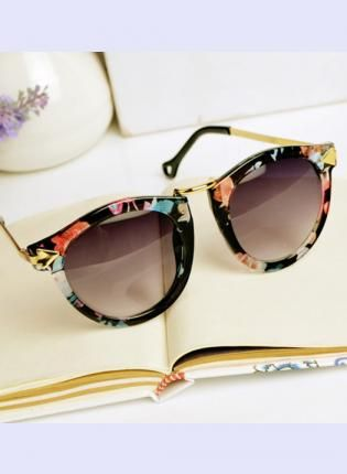 Flora Print Cat Eye Sunglasses C633