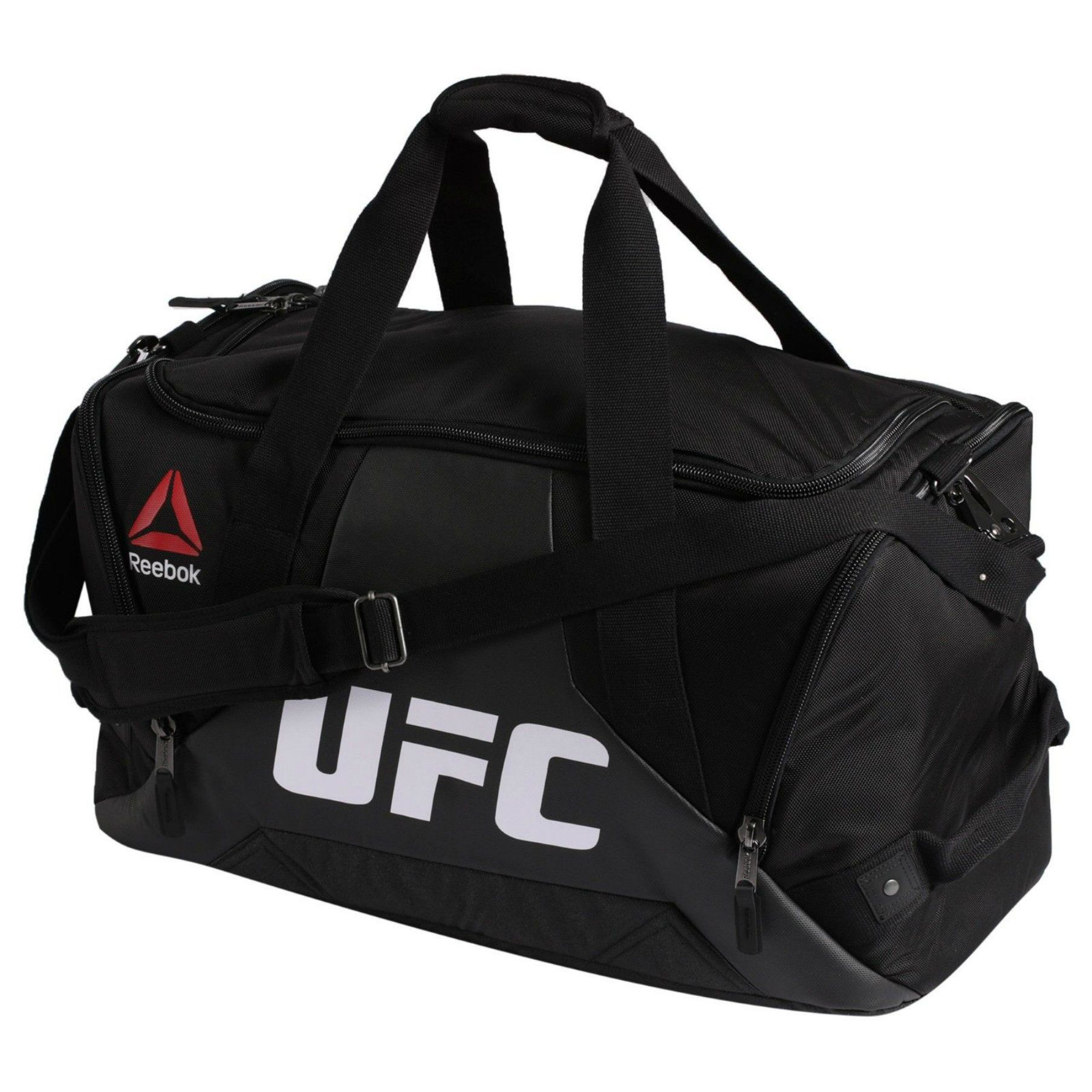 Reebok Combat Grip UFC Fitness   Training Duffle Sport Bag in Black White  Red Yellow f09e3a3d8b091
