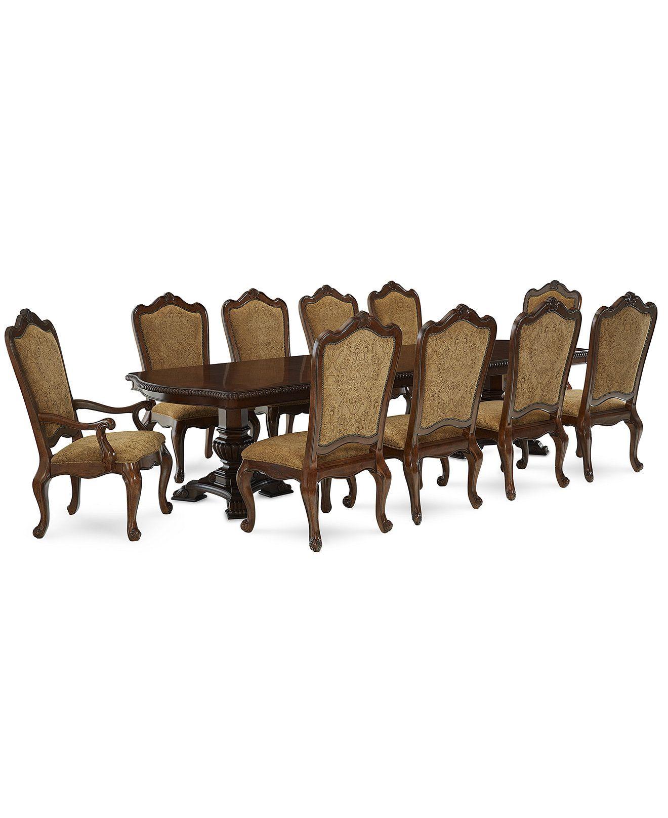 Merlot 11 Piece Formal Dining Room Furniture Set Table 8: Lakewood 11-Piece Dining Room Furniture Set (Double