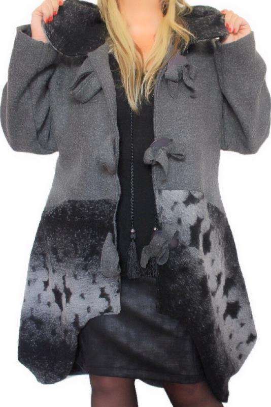 manteau grande taille femme v tements grandes tailles. Black Bedroom Furniture Sets. Home Design Ideas