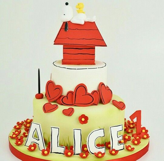 Snoopy | Cake decorating. Snoopy cake. Amazing cakes