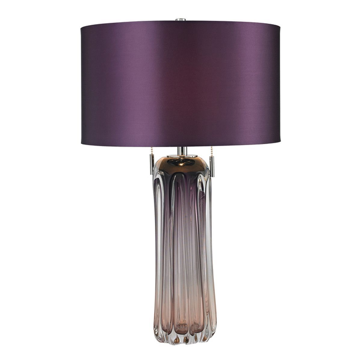 Purple Table Lamp Gorgeous 2Light Purple Table Lamp  Purple Table Lamps And Products Inspiration Design