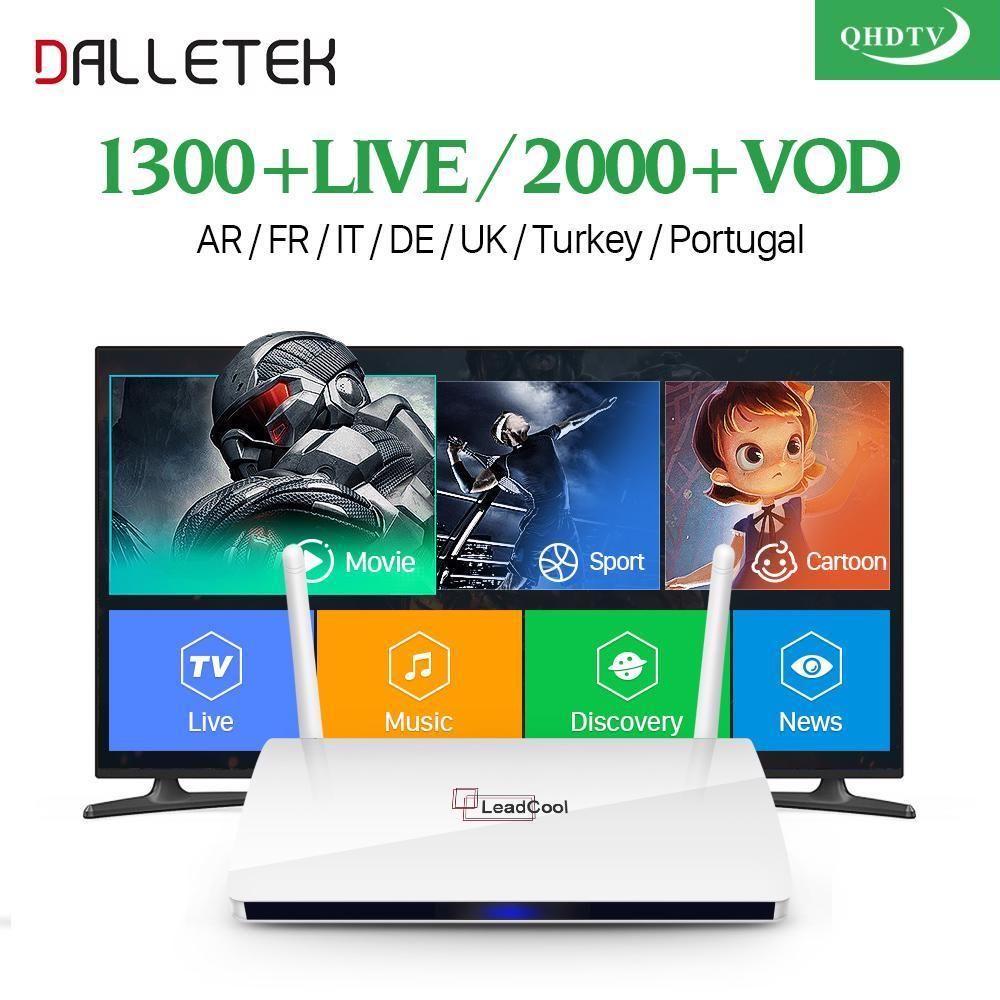 ARABIC French IPTV TV BOX 1300 live Channels QHDTV APK