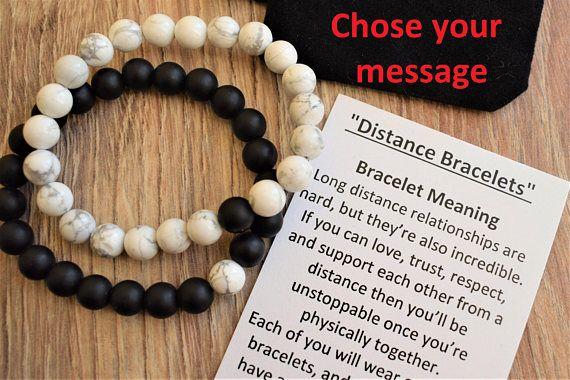 6d7e7b3cc6 Distance bracelet jewelry long distance relationship bracelet long ...
