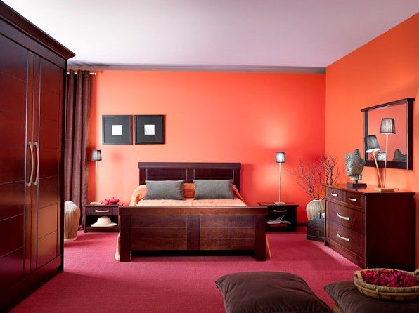 Chambre A Coucher Bois Rouge #1   deco   Pinterest   Room ideas ...