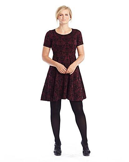 Flock Ponte Skater Dress | Marisota