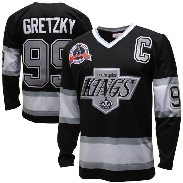 Mens Los Angeles Kings Wayne Gretzky Mitchell   Ness Black Throwback  Authentic Vintage Jersey - Shop.NHL.com 91598f303