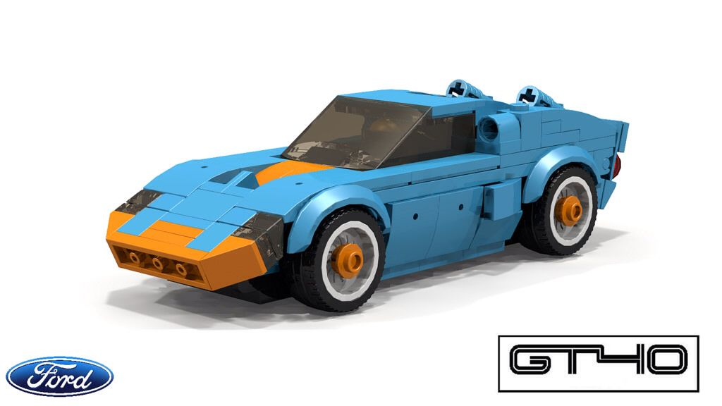 Ford Gt40 1966 Lego Cars Lego Wheels Lego Pictures
