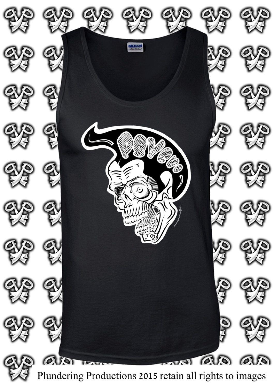 Men's: Psycho Skull Vest Tank Top Size Small to Large **Pre Order** by PlunderingProduction on Etsy #Psychobilly #Rockabilly #Rocker #Biker #Punk #Goth #Alternative #SubCulture #Tattoo #Skull