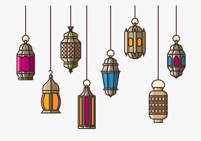 الثريا الإسلامي إضاءة مجموعة اللون Png وملف Psd للتحميل مجانا Ramadan Lantern Ramadan Crafts Ramadan Kareem Decoration