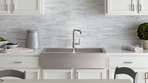 Nice Introducing Vault: Kohleru0027s Self Trimming Apron Front Kitchen Sink
