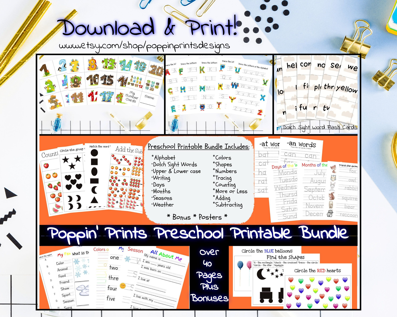 Preschool Printable Bundle Preschool Curriculum