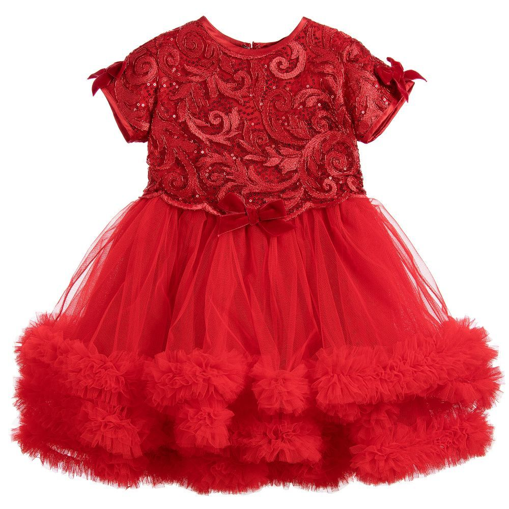 8a1325324 Lesy - Girls Red Tulle Dress