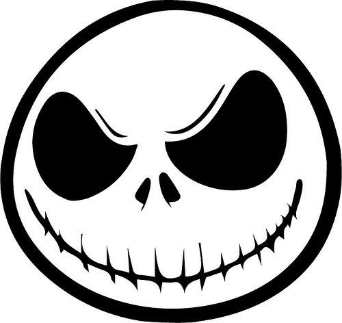 Jack skellington printable cut out and trace and draw in for Jack skellington face template