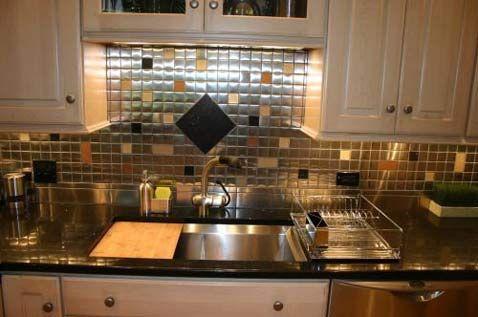 17 Best images about Glitz u0026 Glam! Stainless Steel Mosaic Tile on Pinterest  | Mosaic backsplash, Backsplash tile and
