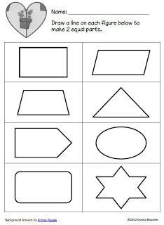 whole and half worksheets for kindergarten google search school things math classroom. Black Bedroom Furniture Sets. Home Design Ideas