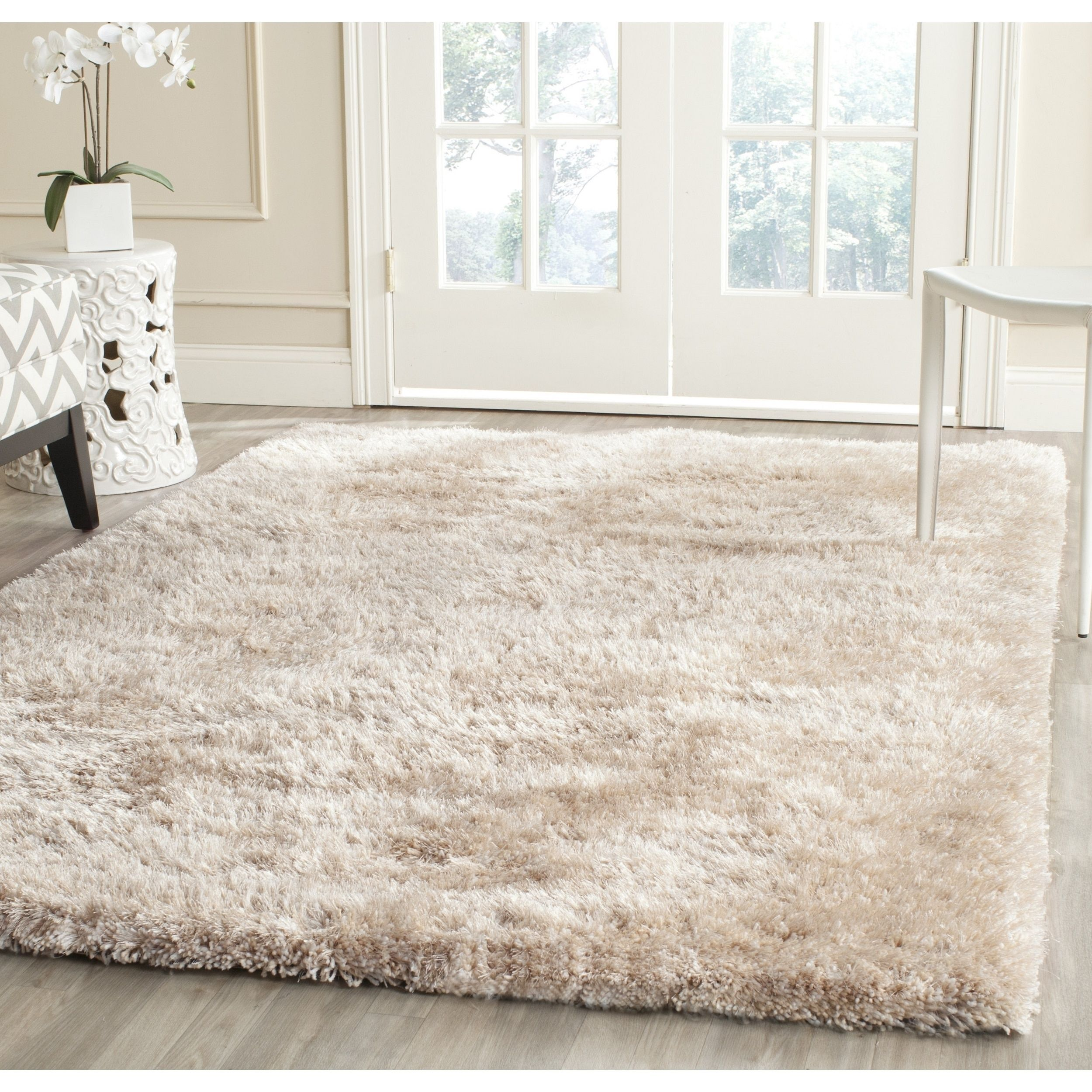 Safavieh Handmade South Beach Leonella Shag Solid Polyester Rug In