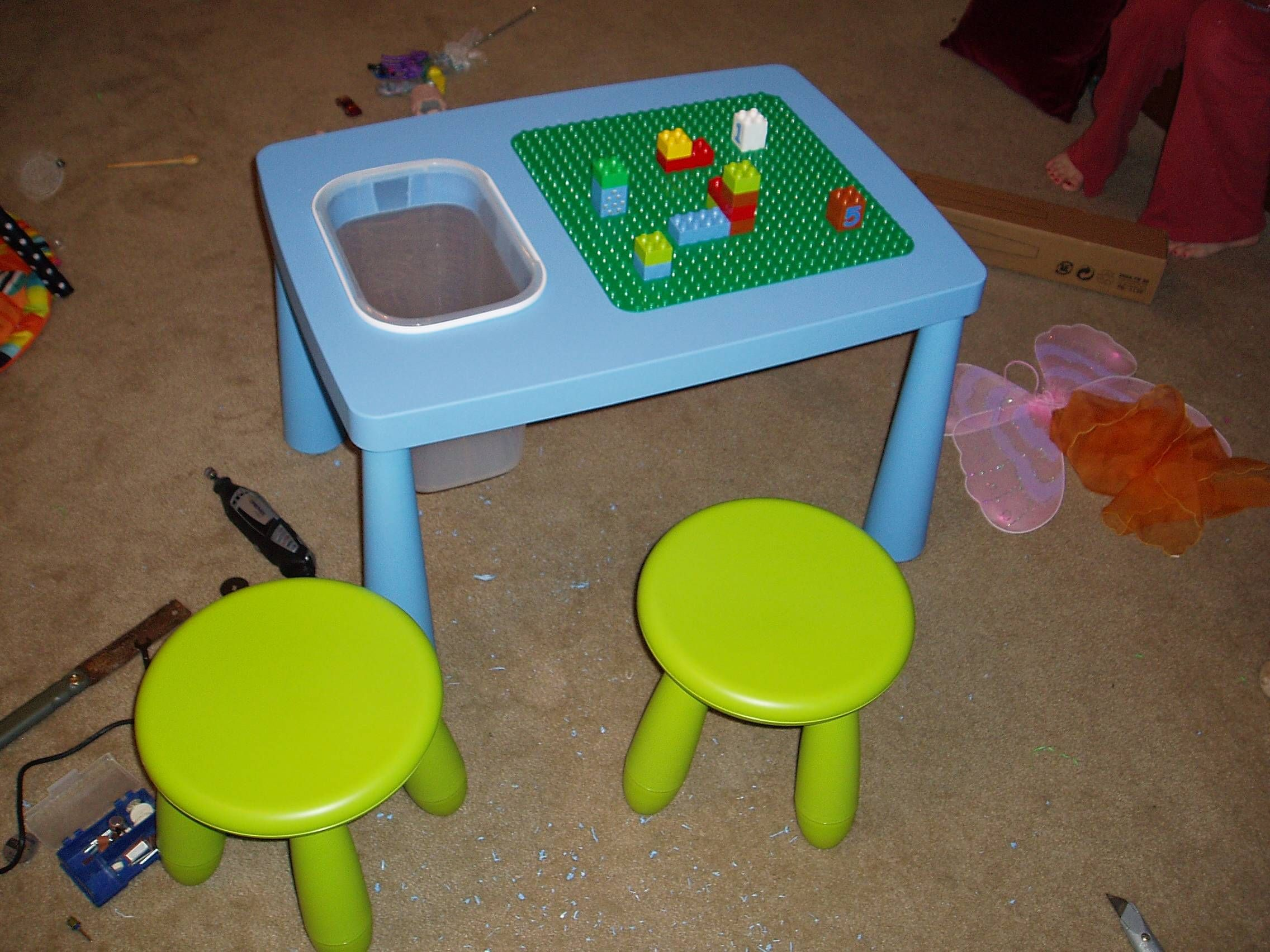 duplo table from ikea table pour les enfants pinterest. Black Bedroom Furniture Sets. Home Design Ideas