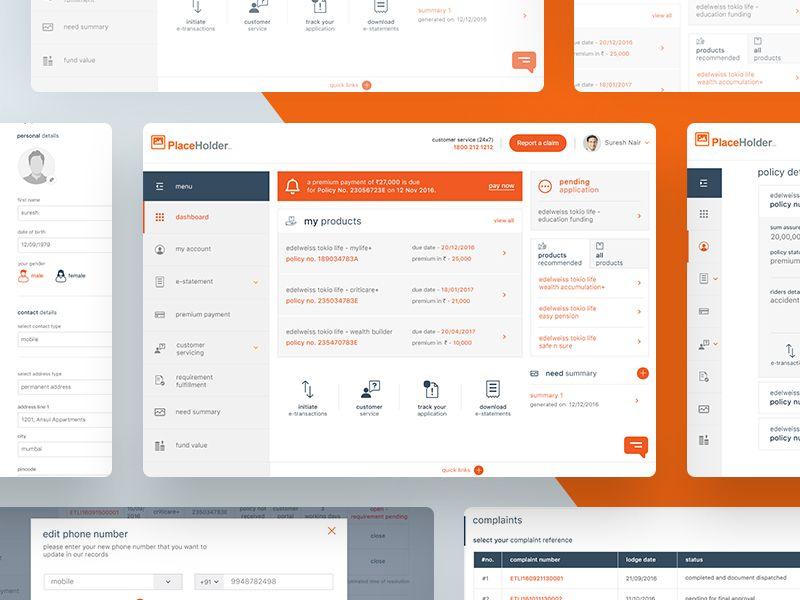 Insurance Company Customer Portal Portal Portal Design Company Portal