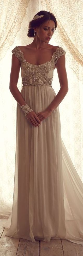 Anna campbell sheath wedding dress with off the shoulder for Anna campbell wedding dress used