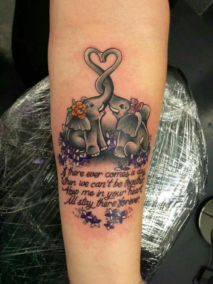 Cute Elephants Tattoo Dedicated To My Nana Tattoos For Daughters Mommy Tattoos Cute Elephant Tattoo