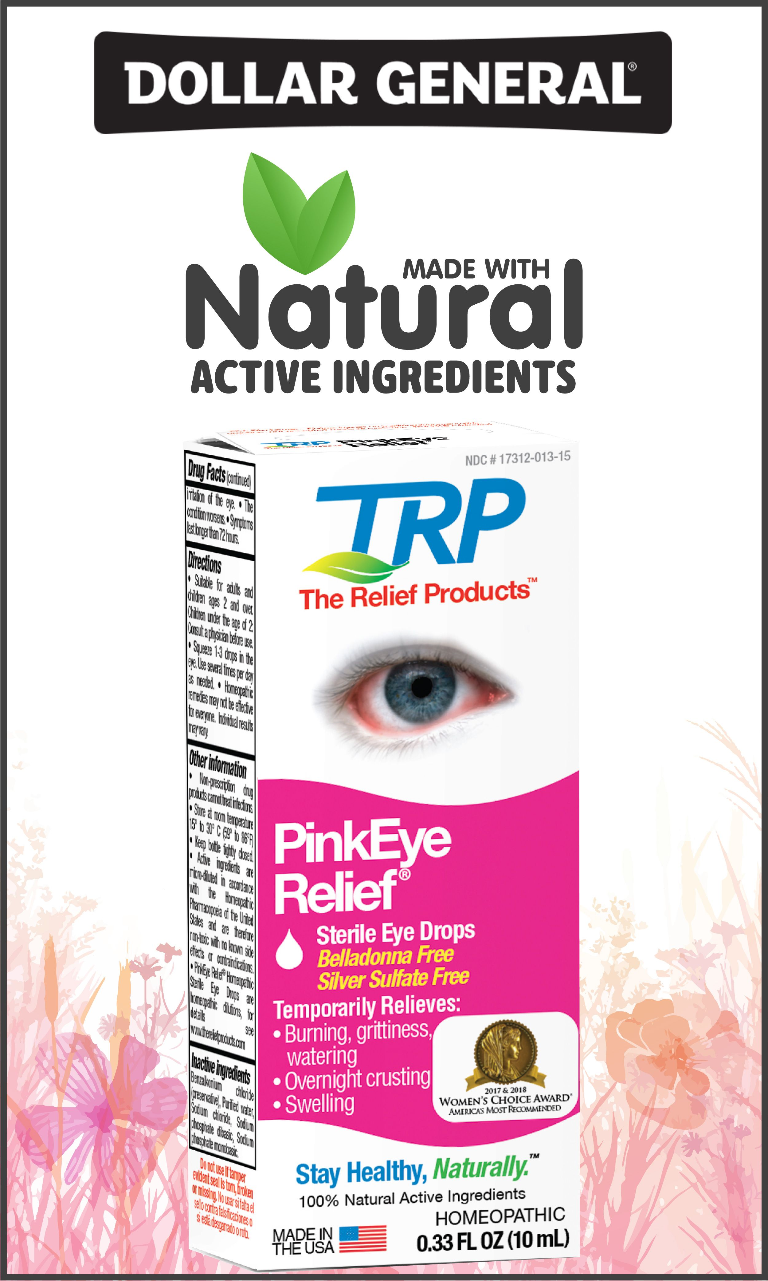 Pinkeye Relief Eye Drops By Trp Fast Natural Relief Pink Eyes Neosporin Eye Drops