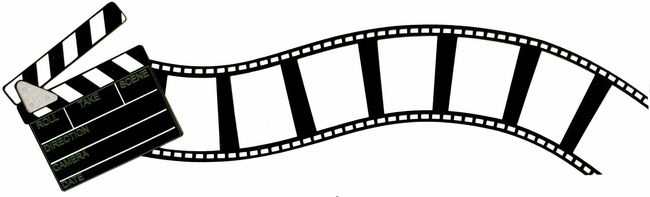 Movie Clap And Curved Flimstrip Border Laser Die Cut Frames Tags