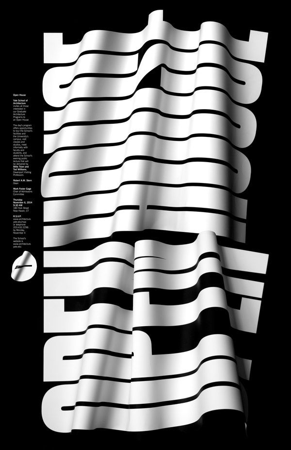 Jessica Svendsen, Proposed poster for the Yale School of Architecture 2014 Open House