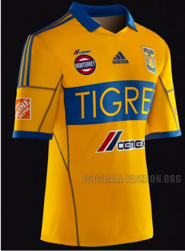 Tigres UANL 2013 adidas Home Jersey  abc0689c3e6e4