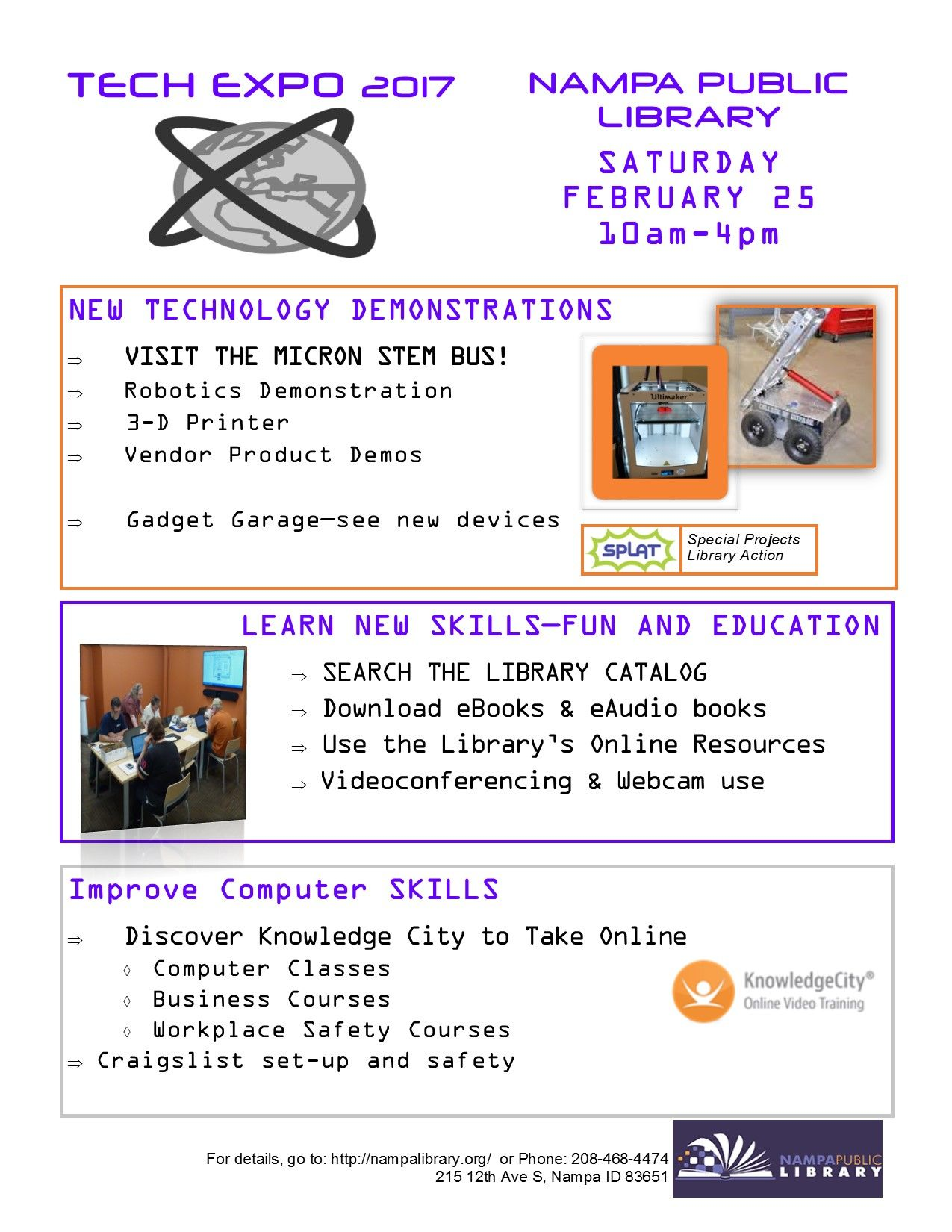 Join Us Saturday, February 25th From 10am4pm For Tech Expo 2017! New  Technology Demonstrations:  Visit The Micron Stem Bus  3d Printer €�   Pinterest