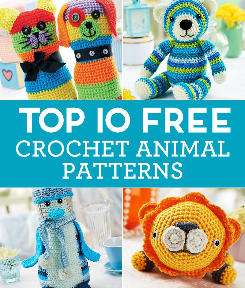 Top 10 Free Crochet Animal Patterns Crocheting Pinterest