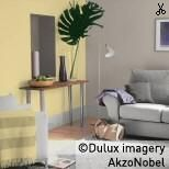 Using Dulux Pale Citrus With Taupe Living Room Paint