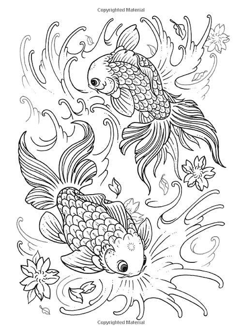 ร ปปลาลายเส น ภาพปลาชน ดต างๆ สวยๆ น าด ชม วาดร ป Com Tattoo Coloring Book Fish Coloring Page Animal Coloring Pages