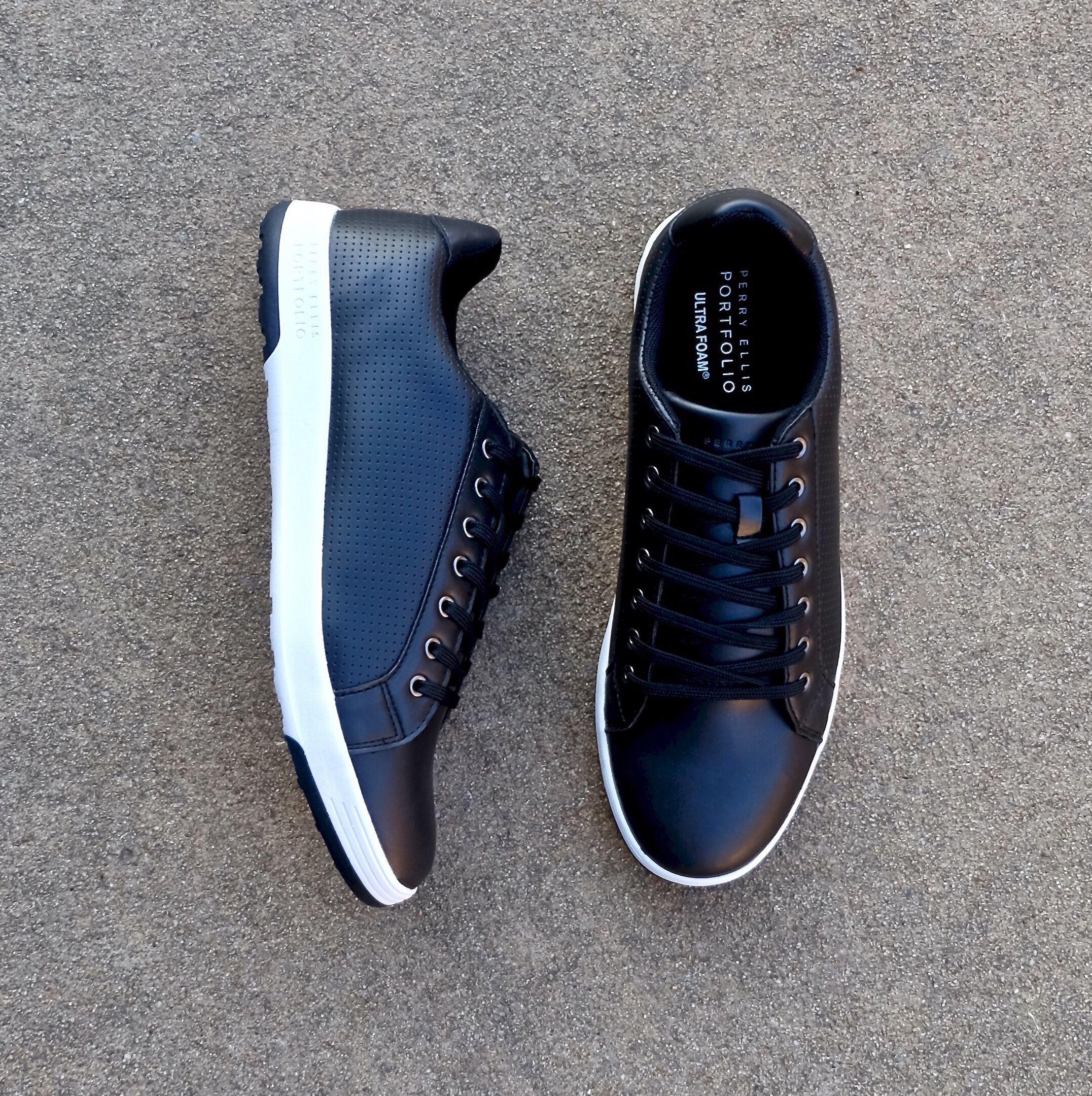 77c7a514d3e Perry Ellis black sneakers  perryellis  sneakers  shoes  footwear  menswear