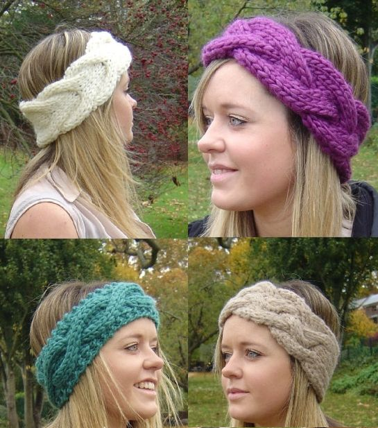Knitting Patterns For 4 Earwarmer Headbands Knitting Hats