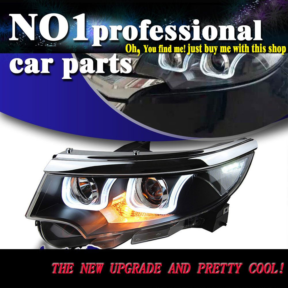 Car Styling   For Ford Edge Headlights Led Head Lamp Drl Front Bi