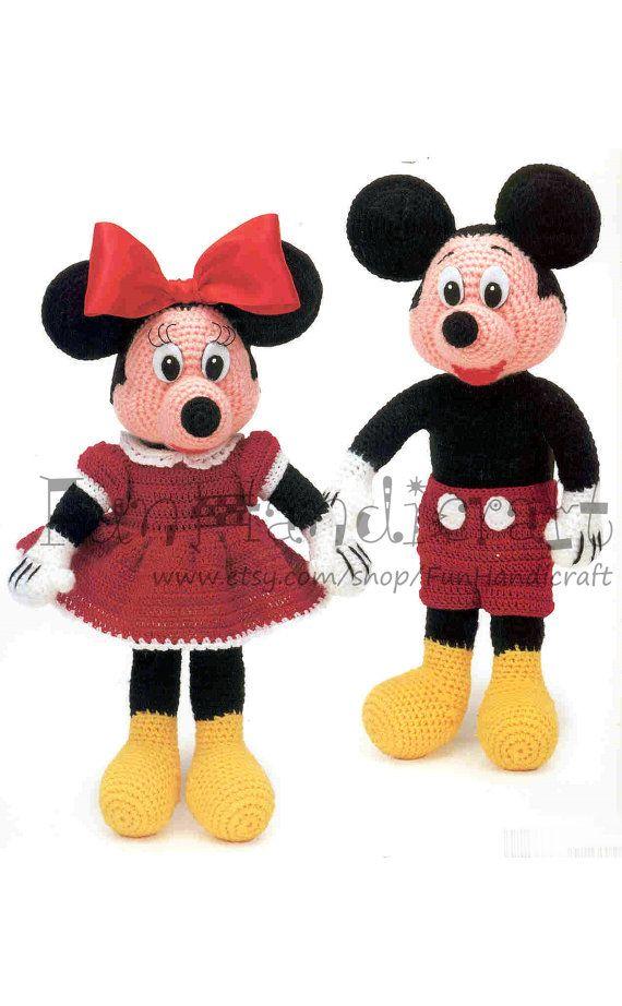 Disney Mickey & Minnie Mouse 12 Amigurumi patrón por FunHandicraft ...