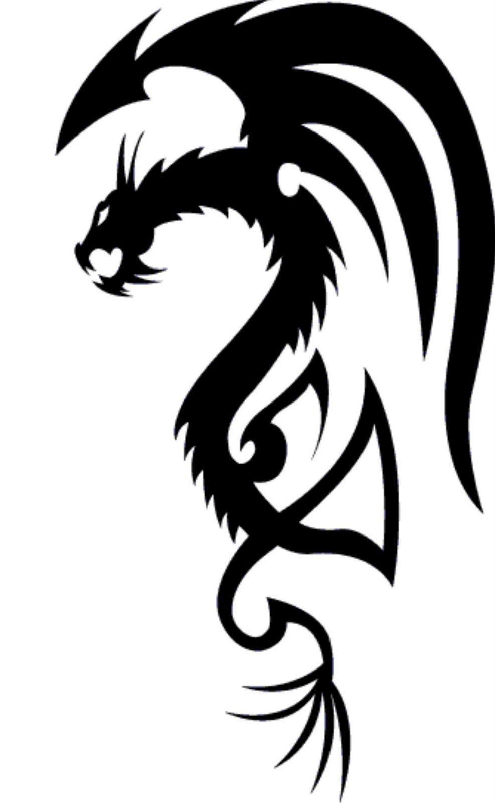 Tribal Dragon Tattoo Design 1 Dragon Tattoo Designs Dragon Tattoo Images Dragon Tattoo