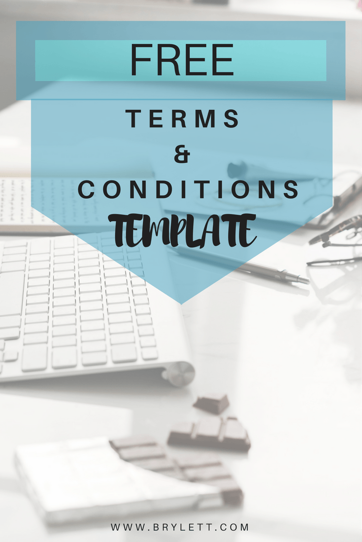 Free TERMS AND CONDITIONS TEMPLATE to help your business run smoothly!