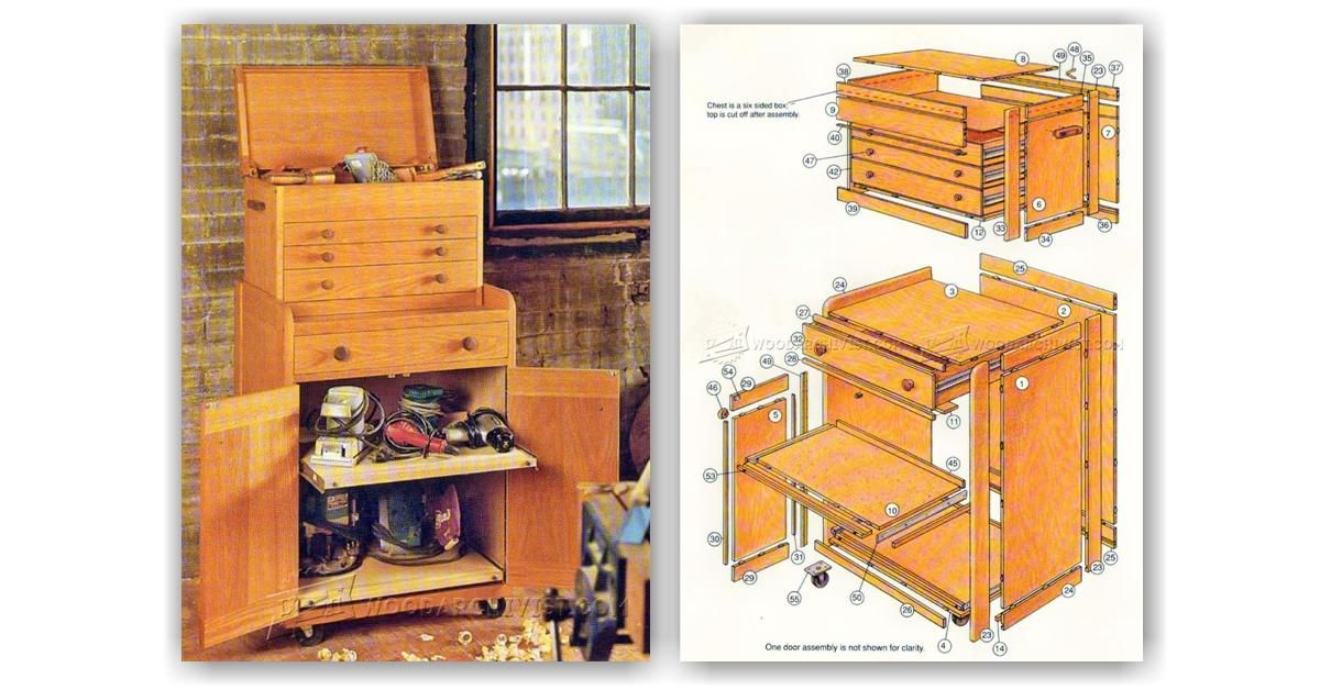 Rolling Tool Cabinet Plans Workshop Solutions Plans Tips And