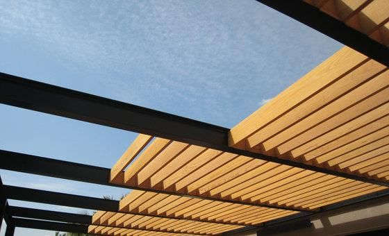 Le brise soleil de la pergola s 39 efface inspiration - Protege soleil terrasse ...