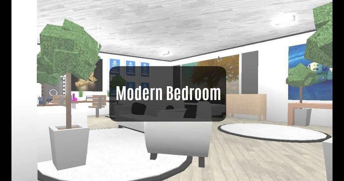 Roblox Bloxburg Room Designs Modern Bedroom New Series Youtube Bloxburg My 1 S In 2020 Modern Bedroom Room Design Bedroom Modern Style Bedroom