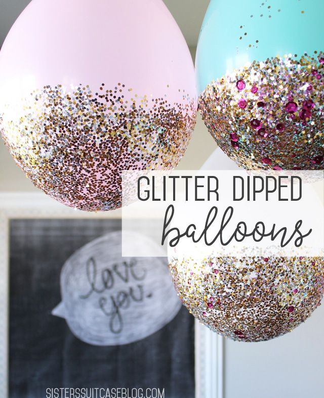 Glitterdipped Balloon Tutorial for New Years Eve Party it Up