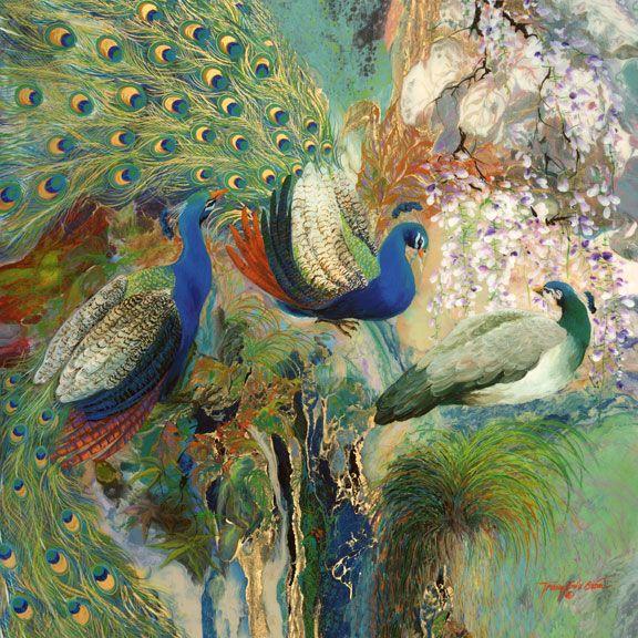 Tranh Trương Bửu Giám - Blue-Peacocks.jpg
